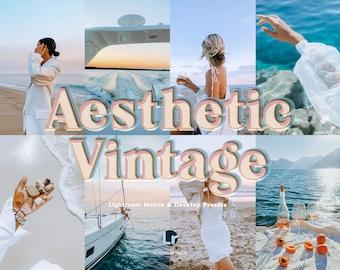 14 Aesthetic Vintage Lightroom Mobile & Desktop presets, Retro Filters, Film Presets, Instagram Filters, Lightroom filters, Vintage preset