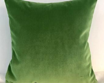 Green Pillow Cover, Velvet Pillow, All Size Pillows, Custom Made Pillow, Velvet Pillow Cover, 18X18 Velvet Cushion Cover, Decorative Pillows