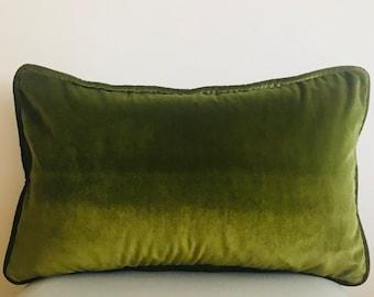 Olive Green Pillow Cover Velvet Pillow All Size Pillows Custom Made Pillow Velvet Pillow Cover 18X18 Velvet Cushion Cover Decorative Pillows