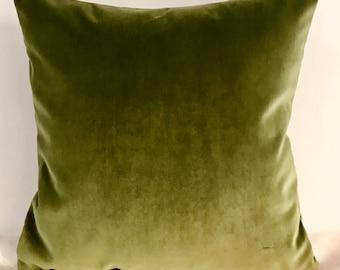Olive Green Pillow Cover Cotton Velvet Pillow All Size Pillows Custom Made Pillow Velvet Pillow Cover Velvet Cushion CoverDecorative Pillows