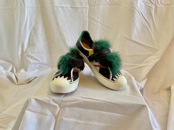 Fendi fur sneakers