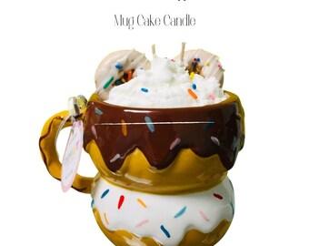Donut & Coffee Mug Cake Candle