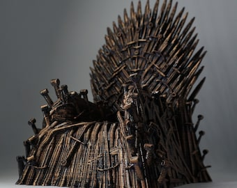 Iron Throne-Game of Thrones Iron Throne 3d Printed-3d Model-GOT Gift