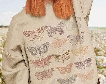 Cottagecore Clothing Butterfly Top Aesthetic Sweatshirt Oversized Sweatshirt Trendy Sweatshirt Grunge Clothing Aesthetic Clothing Luna Moth