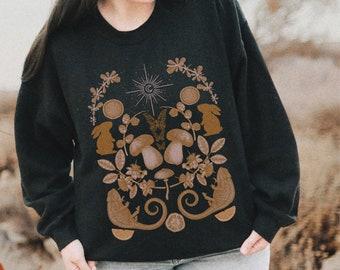 Cottagecore Clothing Cottagecore Art Soft Aesthetic Clothes Aesthetic Sweatshirt Magic Mushroom Mushroom Shirt Mushroom Print Dark Academia
