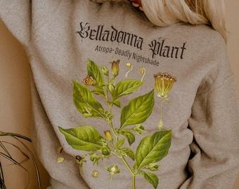 Aesthetic Sweatshirt Oversized Sweatshirt Trendy Sweatshirt Art Hoe Grunge Clothing Aesthetic Magic Print Nightshade Mori Girl Soft Dark