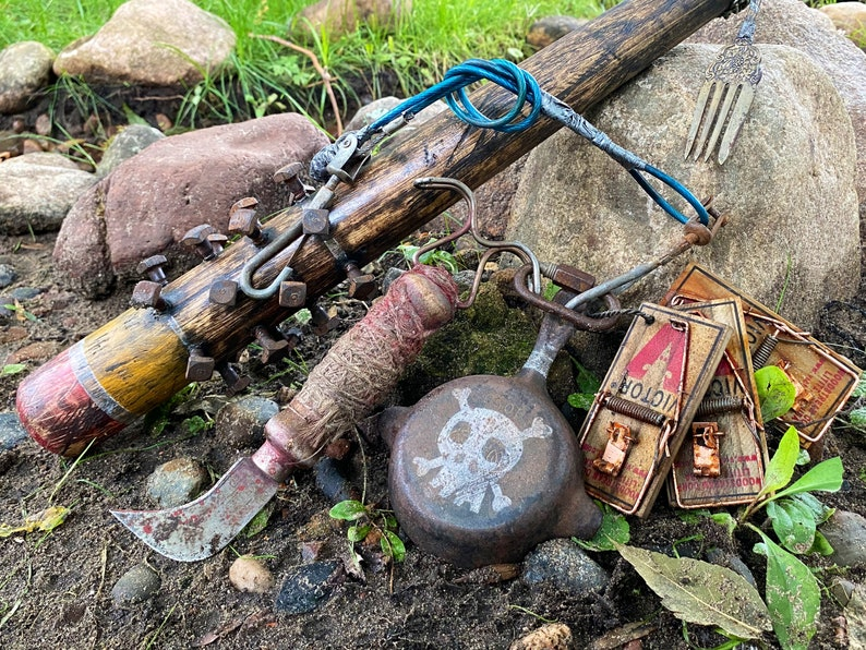 Post Apocalyptic -Spiked Mad Max Cosplay Fallout Wasteland Weapon Comic Con Borderlands Baseball Bat Battle Mace Film