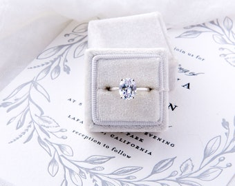 Rory: Oval Cut Engagement Ring - CZ & Sterling Silver