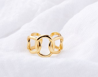 Gabby: Gold Plated Statement Ring