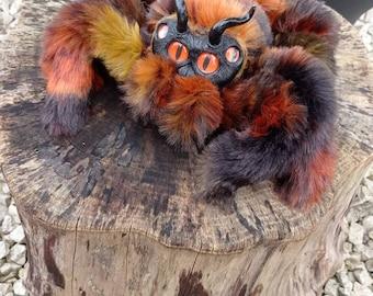Hell Lava Spider Tarantula Halloween Handmade Art Doll Fantasy Creatures