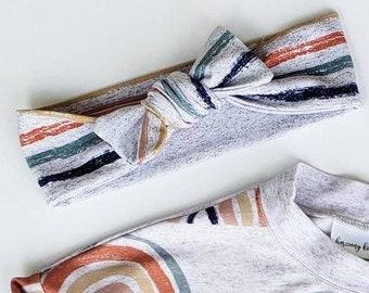 Retro striped childrens headband