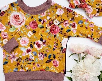 Floral Dolman sweaters