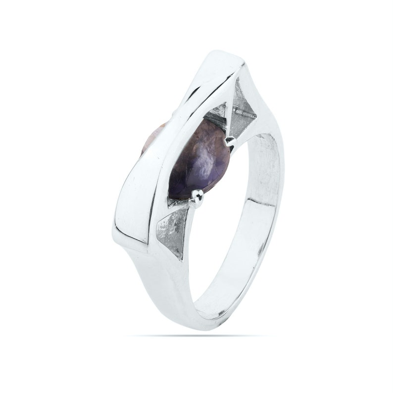 Women/'s Designer Ring Iolite Ring Solid 925 Sterling Silver Ring Jewelry Iolite Jewelry Engagement Ring
