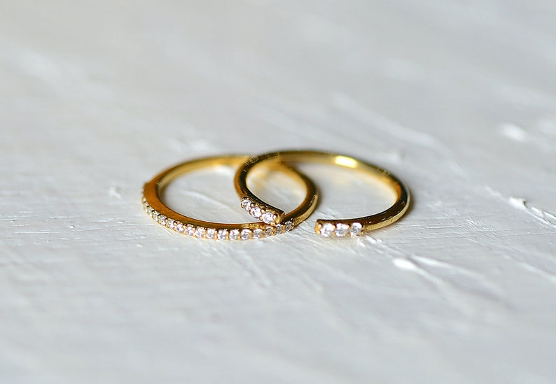 Stacking Ring Gold Gold Minimalist Ring Gift for Her 14k Gold Filled Ring Delicate Ring Thin Simple Ring Dainty Stacking Ring