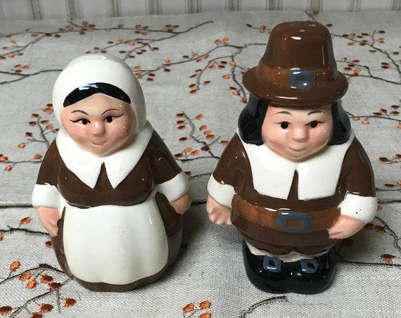 Pilgrim Couple Salt & Pepper Shakers