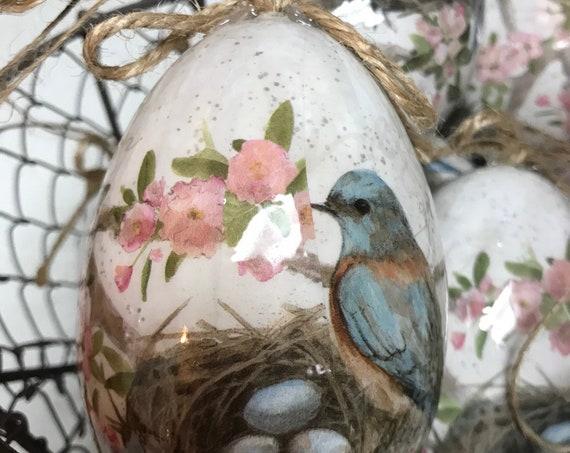 Decorative Bird Egg Ornaments Set of 4
