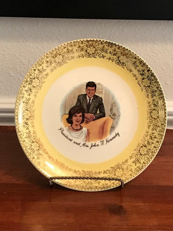 President and First Lady John F. Kennedy Collectors Plate