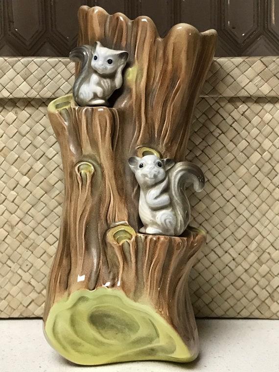 Rare Hornsea Squirrels Wall Vase-England