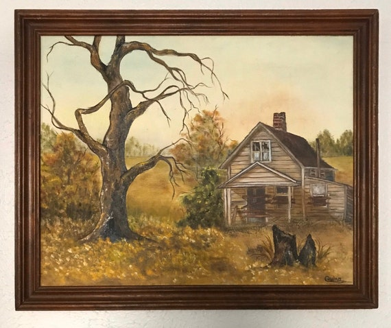 Abandoned House Framed Oil Painting