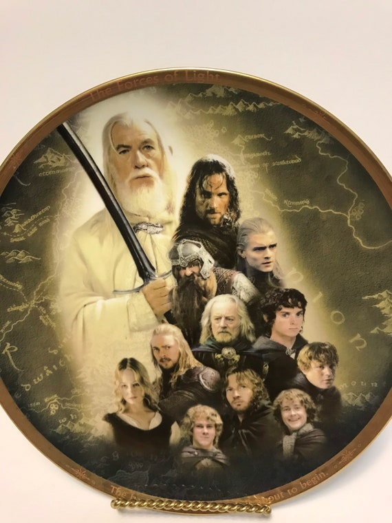 Lord Of The Rings Collectible Plate