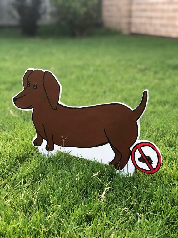 Handmade No! Poop Sign - Dachshund