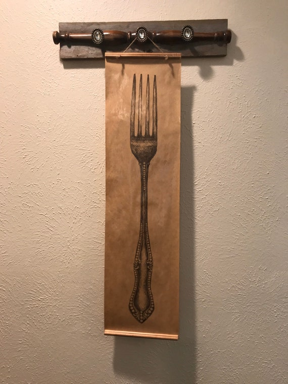 Fork Stamp Wall Art