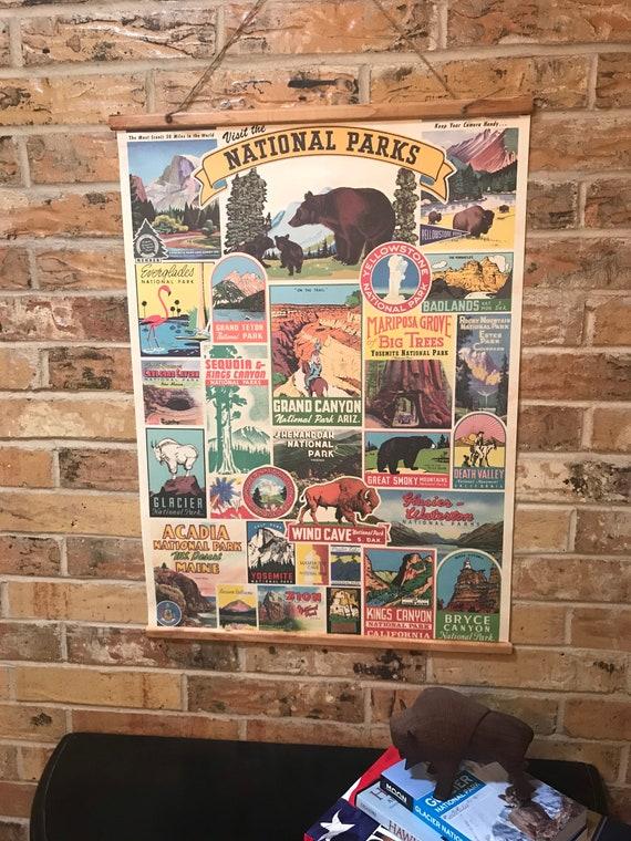 Handmade National Parks Vintage-Inspired Wall Hanging