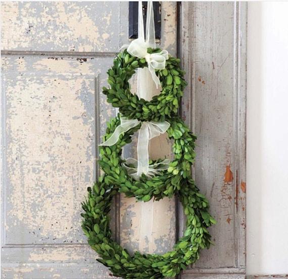 Set of Three Preserved Boxwood Wreaths