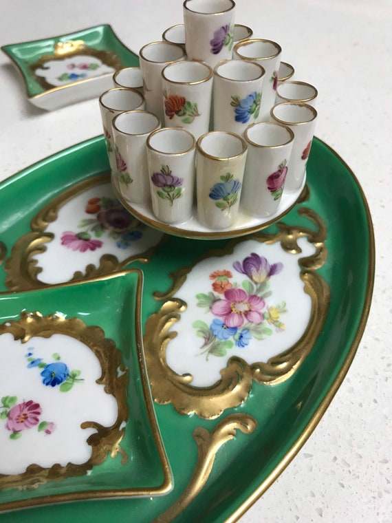 Vintage Dresden Hostess Smoking Set