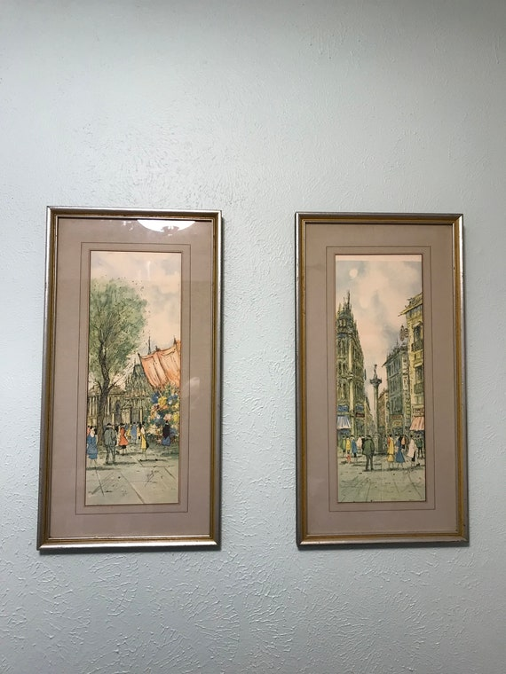 MCM Streets of Paris Framed Prints