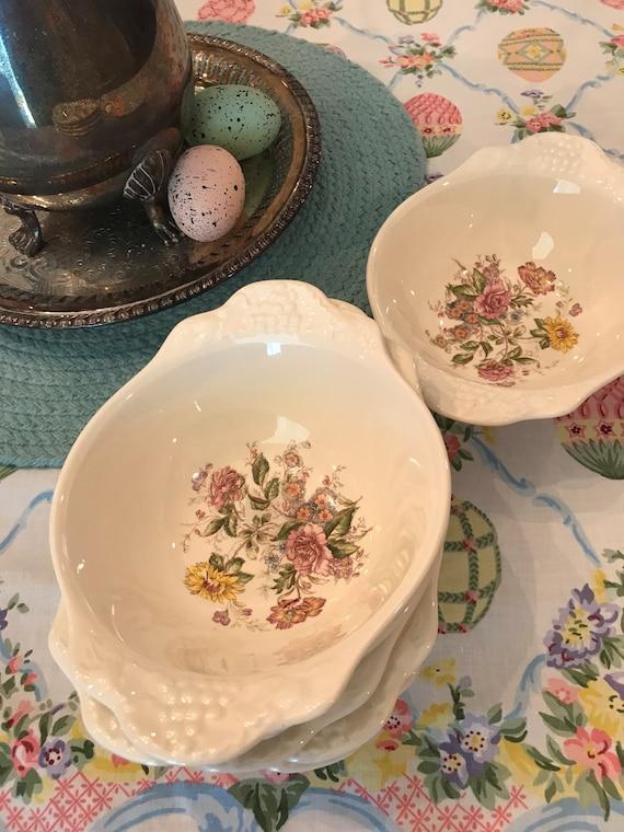 Homer Laughlin Eggshell Theme Dessert Bowls