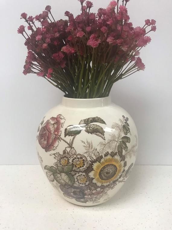 Mason's Friarswood Ironstone Vase