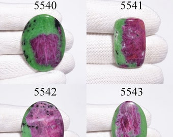 Beautiful Top Grade Quality 100/% Natural Gemstone Ruby Zoisite Cabochon Size 32X22 MM For Jewelry 144 Carat