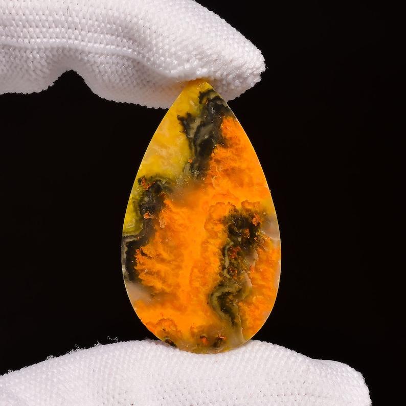 Rare Jasper Stone For Jewelry Making Bumble Bee Jasper Gemstone Natural Bumble Bee Jasper Cabochon AAA+ Quality Gemstone Loose Gemstone