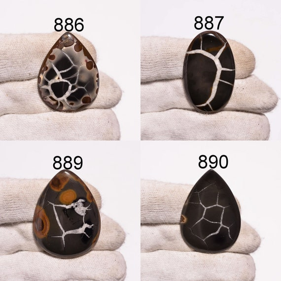 159cts,60x51x4mm Nice Mud Crack Fossil Cabochon Loose Gemstone Natural Handmade gemstone ZZ-417