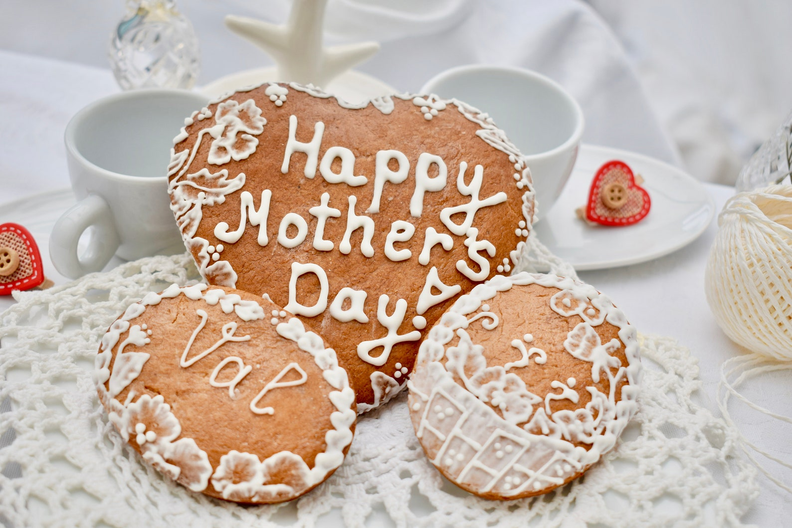 Mothers Day Gingerbread Cookies