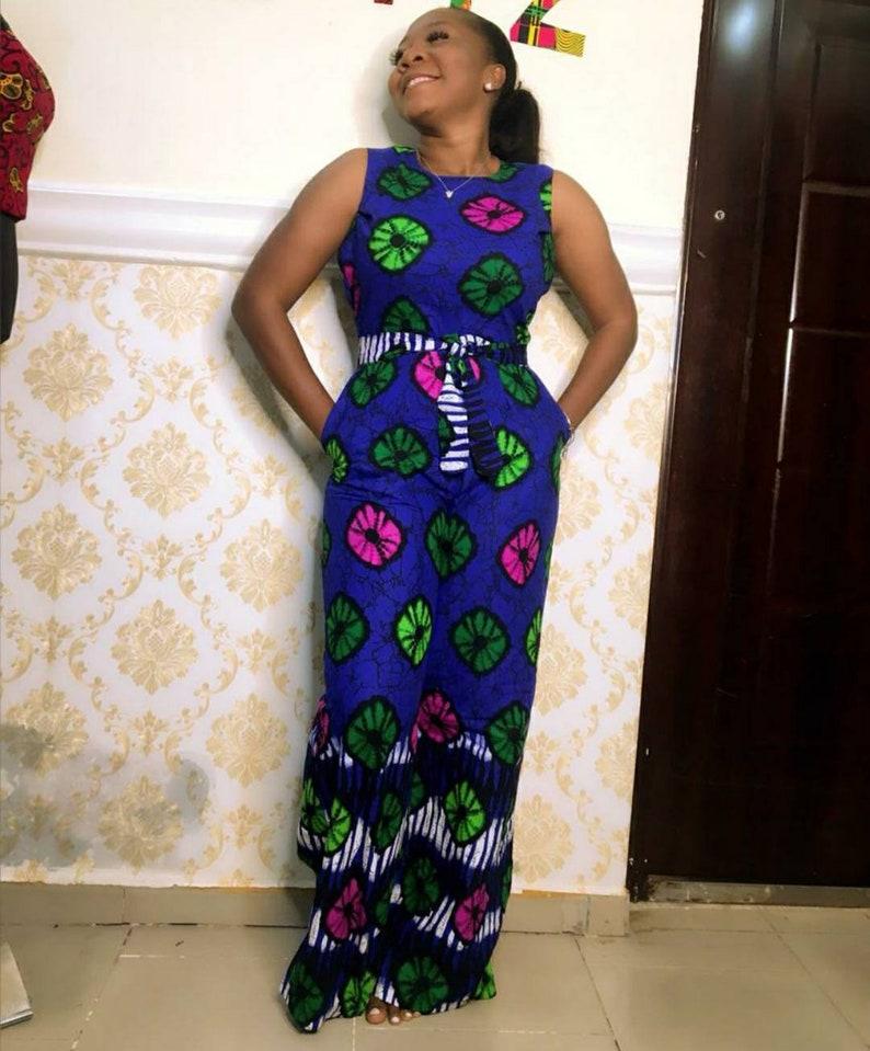 Ankara sleeveless jumpsuit-Ankara casual-African wedding-African guest-African outfit-Ankara outfit African print Jumpsuit