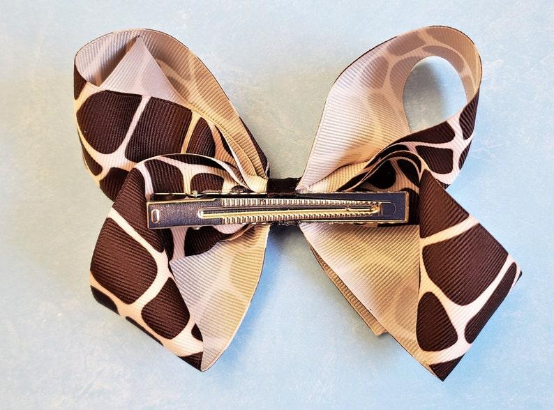 Hair Bows Brown Hair Bows For Girls Animal Print Bows Hair Bows Bows For A Cause