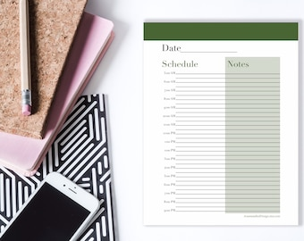 Printable Daily Planner, Digital Planner, Daily Schedule PDF