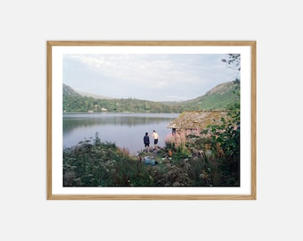 Fine Art Landscape Photography - Boys Drinking in the Lake District - Archival Pigment Print