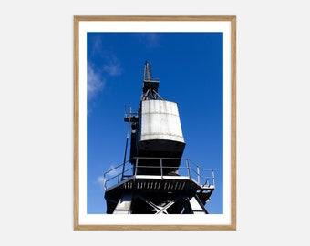 Fine Art Architecture Photography - M Shed Cranes, Bristol Harbourside - Archival Pigment Print
