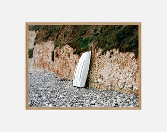 Fine Art Landscape Photography - Boat Resting in Freshwater Bay, Isle of Wight - Archival Pigment Print
