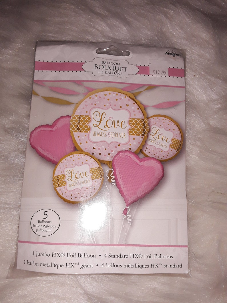 5 pc LOVE Balloon Bouquet
