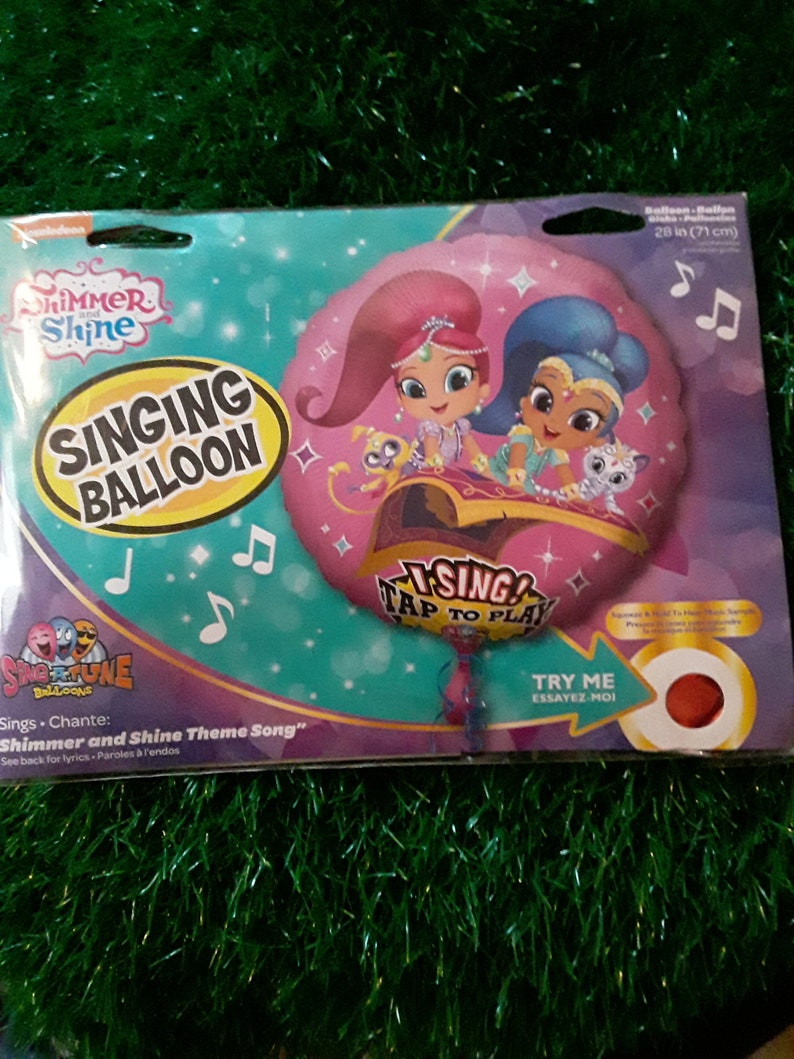 28 Shimmer /& Shine Singing Balloon