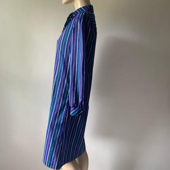 70's Long Sleeved Stripped Shirt Dress - image 3