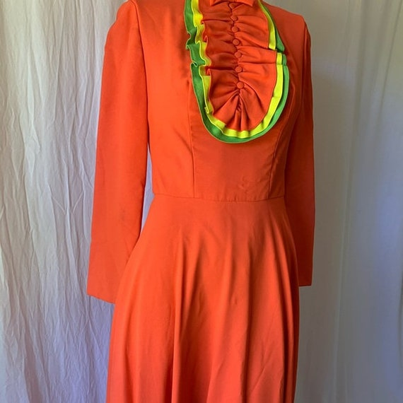 1960's Emma Domb Long Sleeve Maxi Dress - image 3
