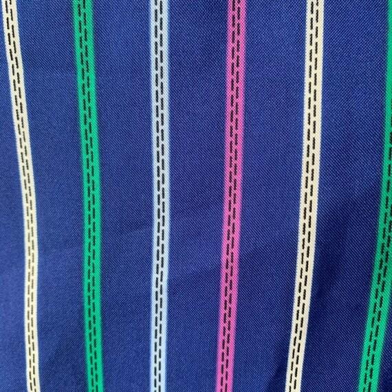 70's Long Sleeved Stripped Shirt Dress - image 6
