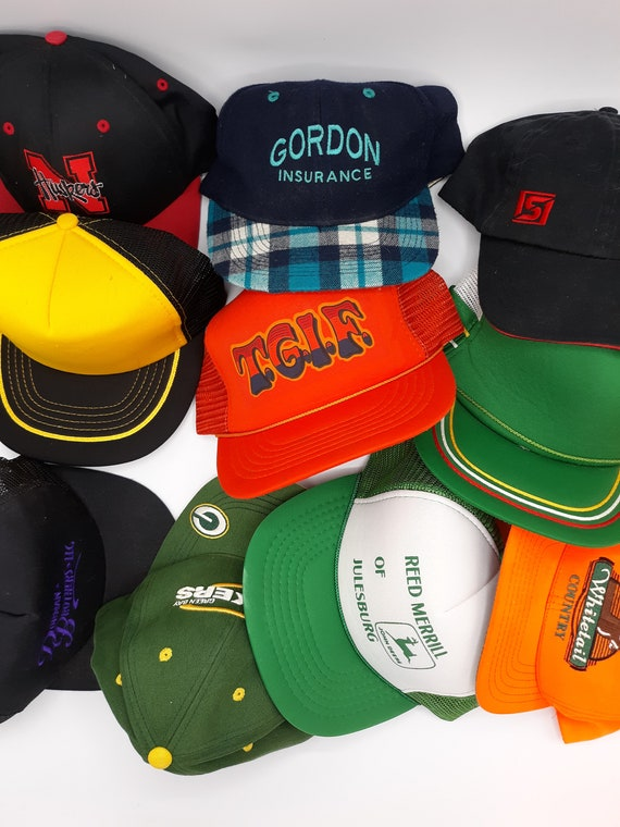 Vintage trucker hat lot
