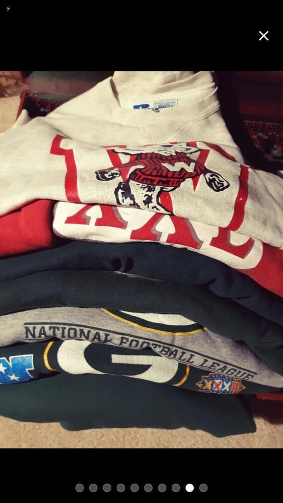 """Vintage sweatshirt lot """"cheesehead bundle"""""""