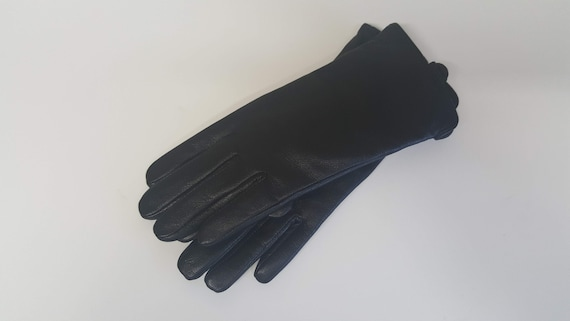 Leather Gloves Women, Black Leather Thinsulate Lin